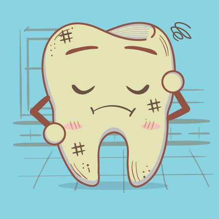 worried: worried tooth