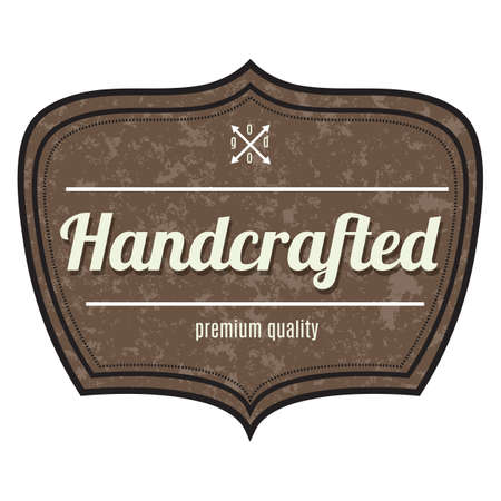 artesanal etiqueta de calidad premium