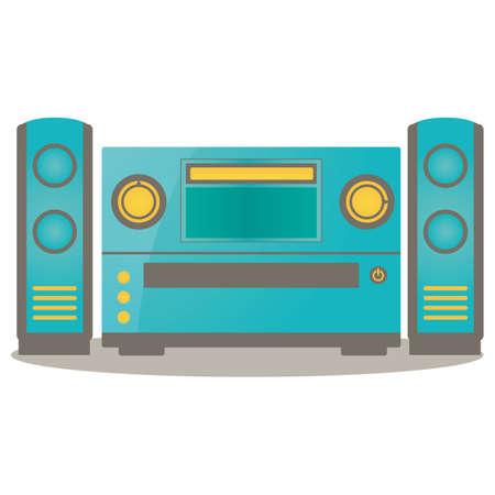 sound system: home sound system Illustration