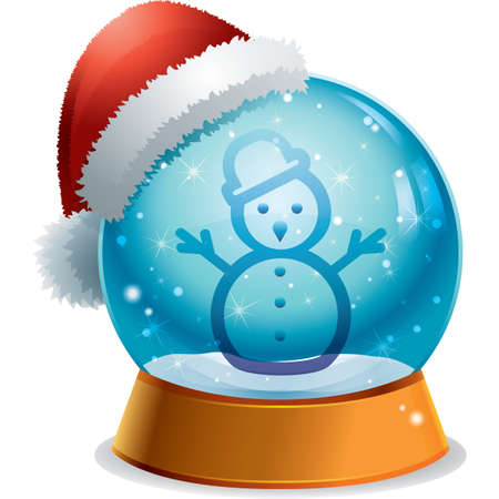 mas: snowman button Illustration