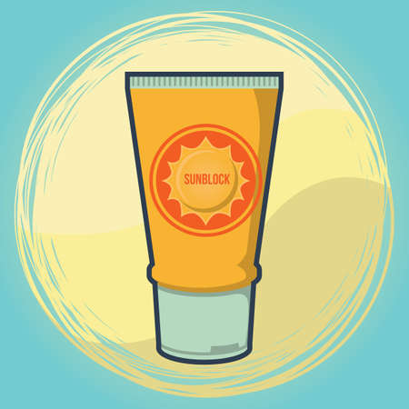 getaways: sunscreen Illustration