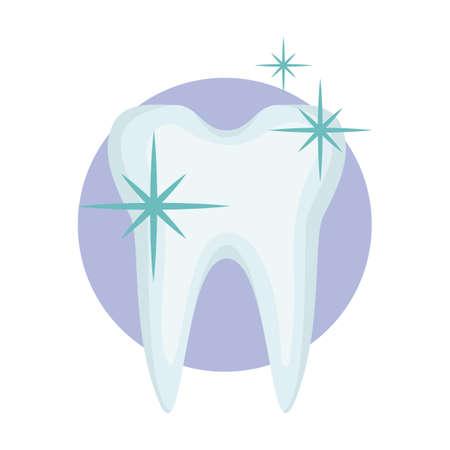 gezonde en glanzende tand Stock Illustratie