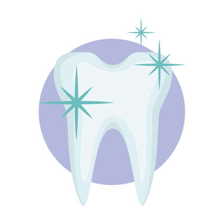healthy and shiny tooth Illustration