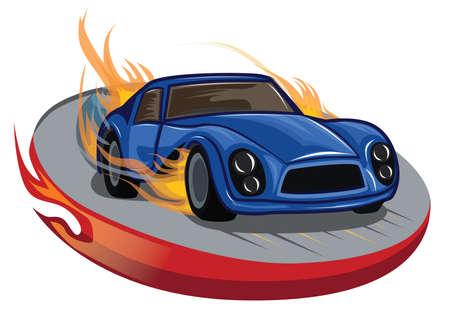 coche de carreras de fuego