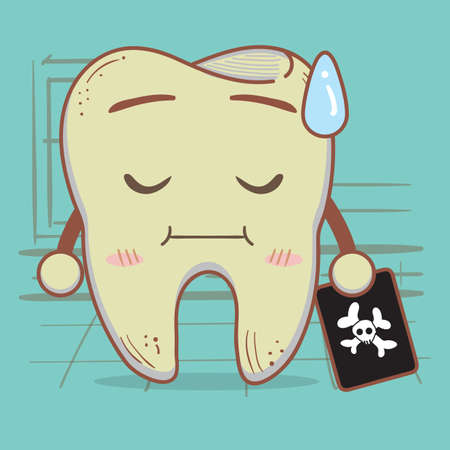 x xray: tooth holding x-ray Illustration