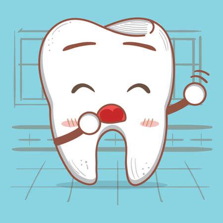 yawning: yawning tooth