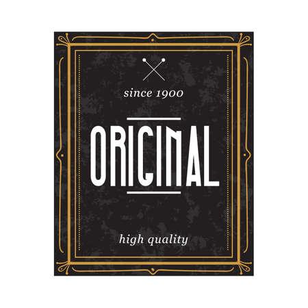 original: original quality label