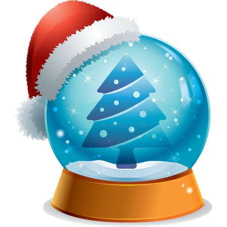 glass dome: christmas tree button