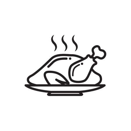 Pollo arrosto  Vettoriali