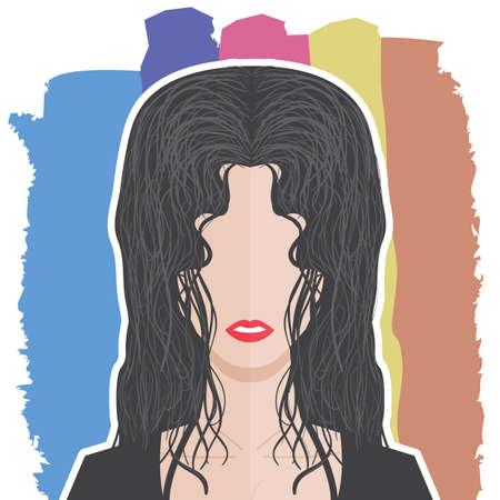 in profile: profile of a woman