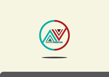 house logo: house production logo