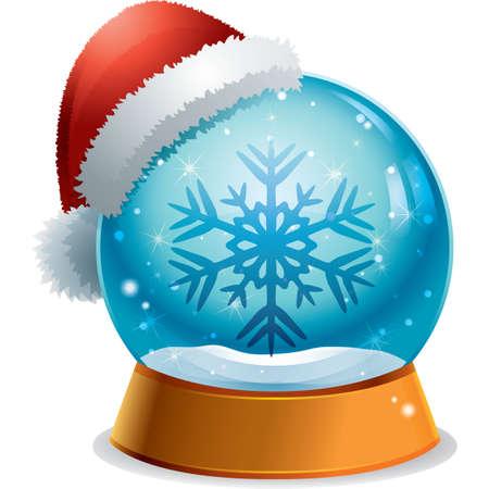 glass dome: snowflake button