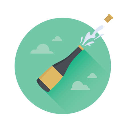 champagne bottle: champagne bottle