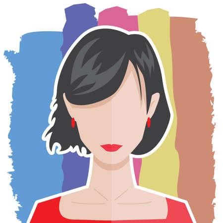 woman profile: profile of a woman