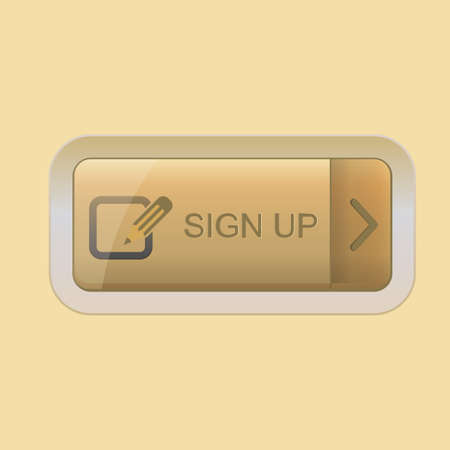 sign up button: sign up button Illustration