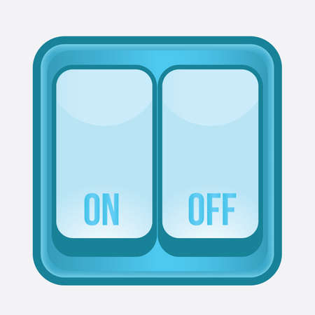 on and off: on and off switch