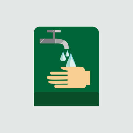 tap water: tap water and hand Illustration