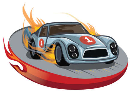 fiery: fiery race car