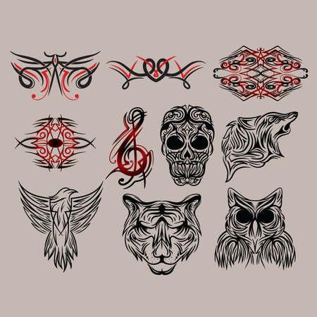 Sammlung von Tattoo-Design