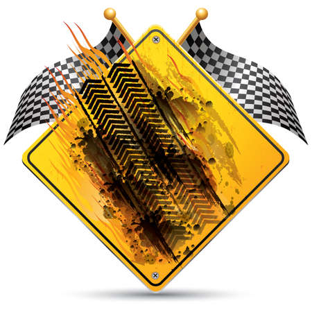 tire imprint: tyre marks