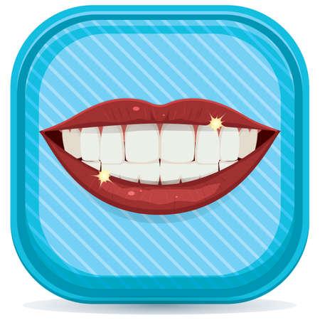 shiny: shiny white teeth Illustration