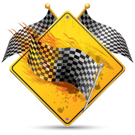 checker flag: checkered flag