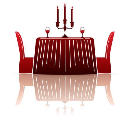 restaurant table: restaurant table Illustration