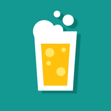 froth: beer glass Illustration