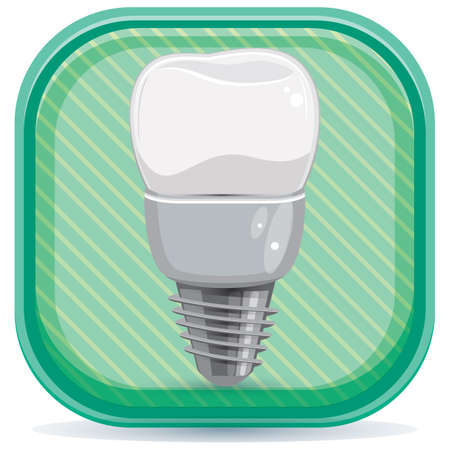 premolar: tooth implant Illustration
