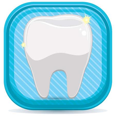 shiny: healthy and shiny tooth Illustration
