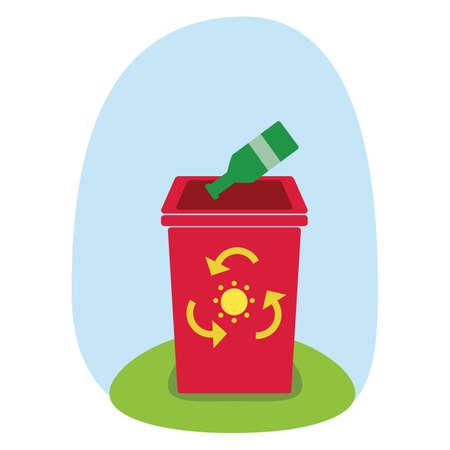 papelera de reciclaje: la papelera de reciclaje Vectores