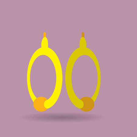 earrings: earrings Illustration