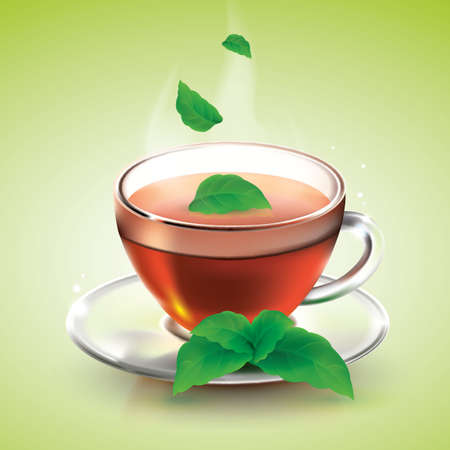 mint: mint tea Illustration