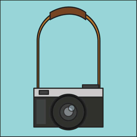 straps: camera with strap Illustration
