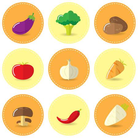 vegatables: set of vegetables Illustration