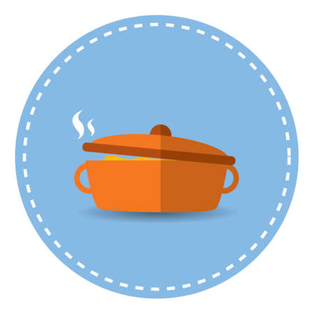 steamy: food in cook-pot Illustration