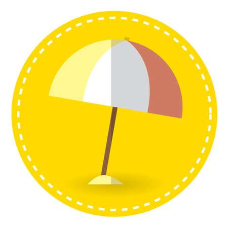 parasol: beach parasol Illustration