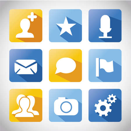 contacting: web icons