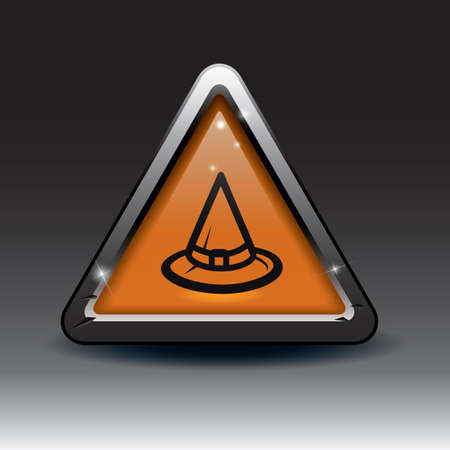 pointy hat: witch hat button