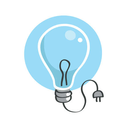 electric bulb: electric bulb with plug Illustration