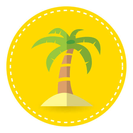 seashores: palm tree Illustration