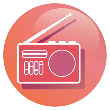 transistor: receptor de radio de transistores Vectores