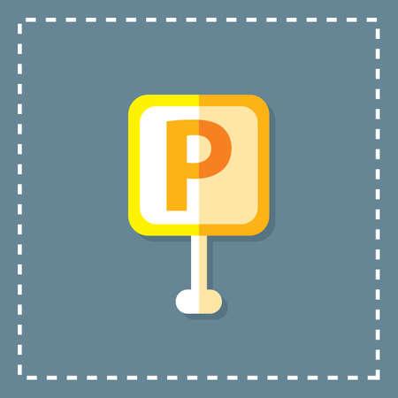 instruct: parking board Illustration