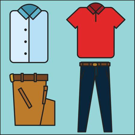 pants: shirt and pants Illustration