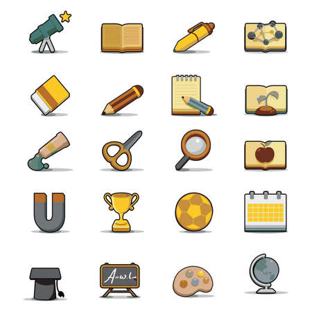 objects: educational objects Illustration