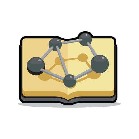 substances: molecular structure on book
