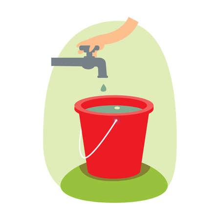 filling: filling water in bucket