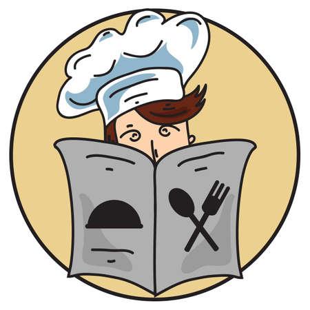 chef reading menu card