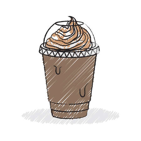 blended: ice blended coffee with cream