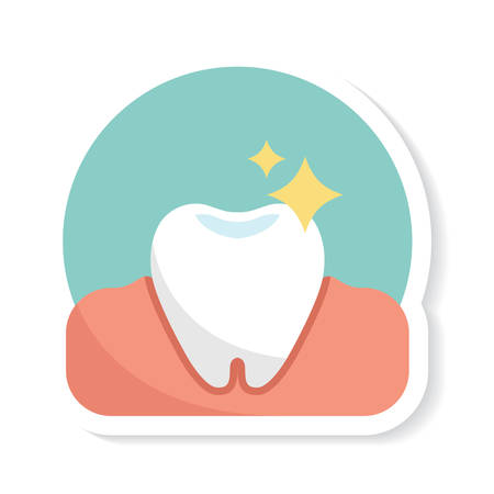 shinning: shiny tooth Illustration